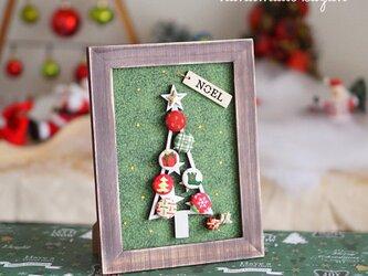 一点モノ! USA生地使用・クリスマスツリーのフレーム(2)の画像
