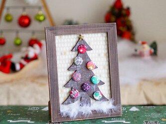 一点モノ! リバティ生地のクリスマスツリーフレームの画像