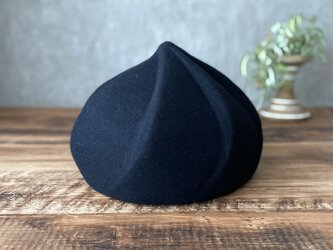 whip beret/black ※カラー変更可の画像