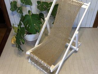 macrame deck chair ③ マクラメデッキチェアの画像