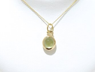 1st anniversary sale!! K10YG Prehnite necklaceの画像