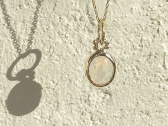 1st anniversary sale!! K10YG Water Opal necklaceの画像