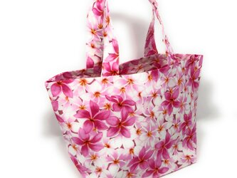 ハワイアン ミニ トートバッグ プリメリア柄 ピンク mmt-142の画像