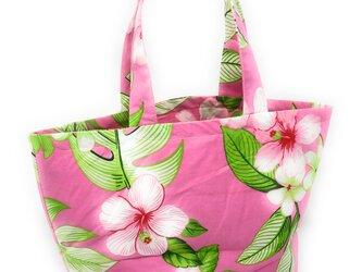 ハワイアン ミニ トートバッグ プリメリア柄 ピンク mmt-194の画像