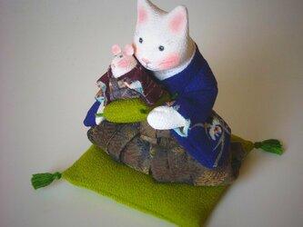 縮緬福猫 干支 子 その二の画像