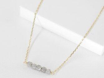 #760N★K10★グレーダイヤモンド原石のシンプルネックレスの画像