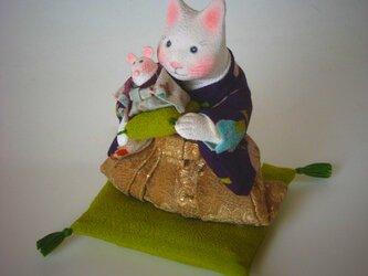 縮緬福猫 干支 子 その七の画像