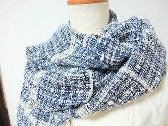 手織りストール(藍)の画像