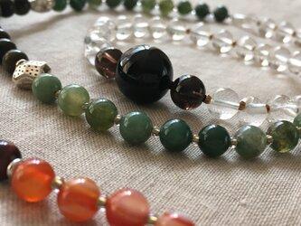 モリオンとヒマラヤ水晶のネックレスの画像