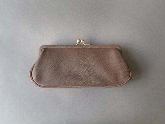 plain gama long wallet (gray)の画像