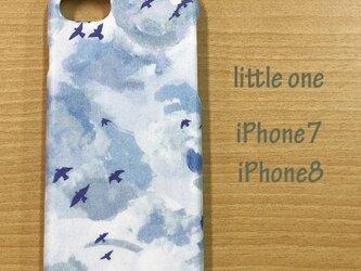 【リバティ生地】シルバー・ライニング iPhone7 & iPhone8の画像
