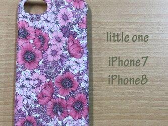 【リバティ生地】グロリア・フラワーズピンク iPhone7 & iPhone8の画像