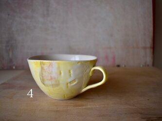 降り始めた雪のスープカップ ティーカップの画像