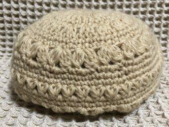 ☘️❄️模様編みのベレー帽*(クリーム)*S ベビー・キッズの画像