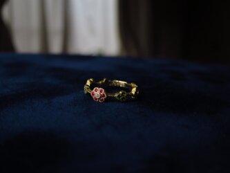 K18   花環のピンキーリングの画像