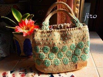 ビーズ編みバッグ- lunch bagの画像