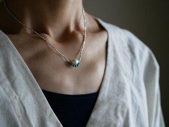 あこや真珠×ターコイズ・シルバーネックレス n1378の画像