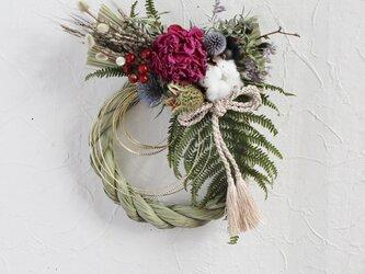 芍薬のお正月リース(華燭の典)の画像