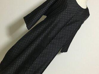 1207    着物リメイク 2L~3L寸法の7分袖コクーンワンピース 村山大島紬 の画像
