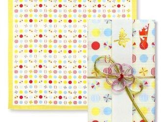 風呂敷で作った御祝儀袋/京飴/小紋調/名入れ無料/お弁当包みに最適なサイズの画像