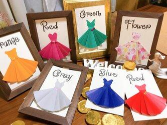 【ドレス当てクイズ】ウェルカムスペースをお洒落に盛り上げます!結婚式後はインテリアに♡(ウェディング受付サインも販売中)の画像