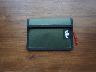 flap pouch  x-pac dark greenの画像