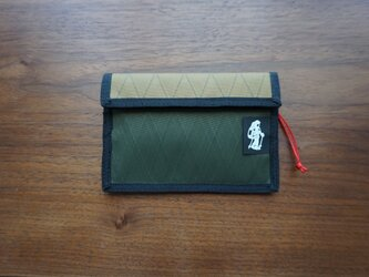 flap pouch  x-pac coyote×dark greenの画像