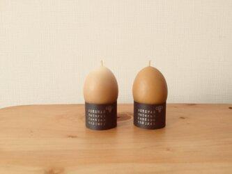 たまごの蜜ろうキャンドル 2個の画像