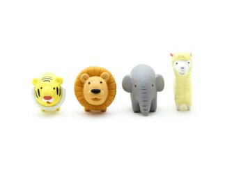 動物フィギュア/ミニチュア ライオンセット(ライオン、ぞう、とら、アルパカ) ブランド/リトルアニマル おもちゃ/オブジェの画像