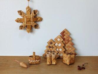 白樺のタンネの森の小さなクリスマス Aの画像