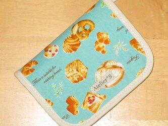 【5月31日まで】二つ折り財布★パン柄(ブルー)の画像