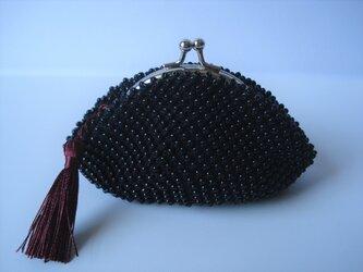 Beaded Purse --Black & Bordeaux--の画像