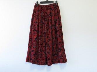 *アンティーク着物*木の実模様錦紗のスカート・スヌードセット(裏地つき)の画像