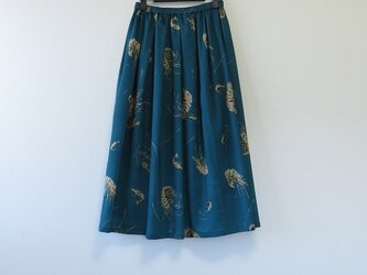 *アンティーク着物*海老模様のスカート・スヌードセット(裏地つき)の画像