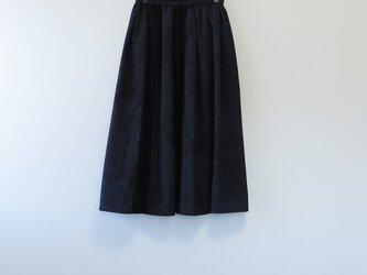 *アンティーク着物*花模様結城紬のパッチスカート・スヌードセット(裏地つき)の画像