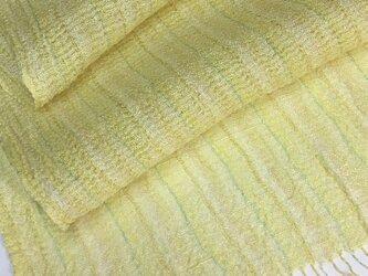 草木染め 手織りシルクショール ST05の画像