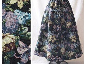【激レア】ゴブランのティアードスカート(ネイビー)の画像