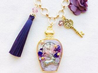 香水瓶バッグチャーム(あの日の花を)の画像