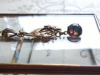 *k様オーダー品 ブラックOpal/Flower ネックレスの画像