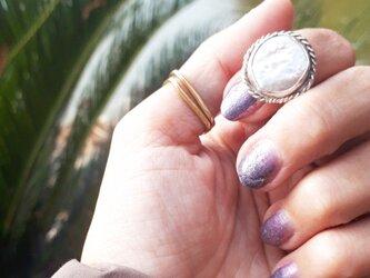 【11号】silver925 coin pearl ringの画像