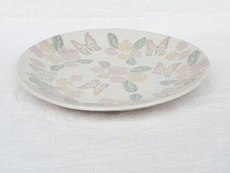 薔薇蝶 丸平皿 の画像