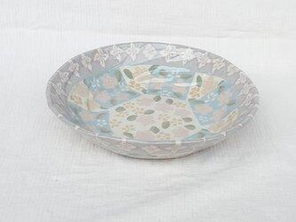 練上 角深皿 青の画像
