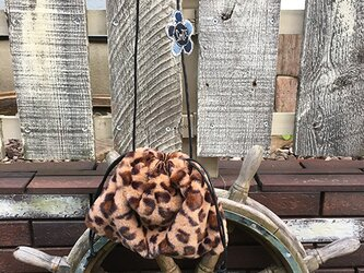 【セレクト加工】レオパード巾着ショルダーポーチの画像