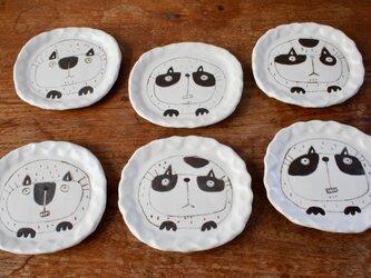 丸まる猫皿の画像