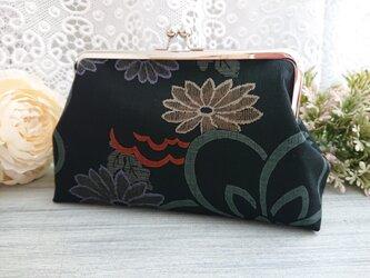 ◆【再販3】菊の和柄がま口ポーチ*和柄日本花柄フラワー着物がま口バッグ旅行プレゼントの画像