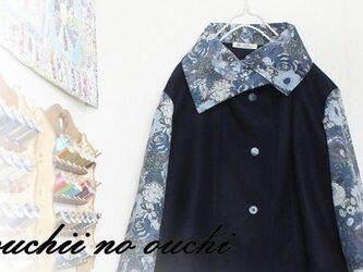 お値引きLIBERTYリバティ コーデュロイ&ウール100 大き目カラーショートコート♡の画像