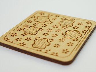 木製コースター 熊谷型紙 桜・梅の画像