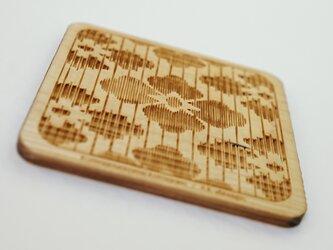 木製コースター 熊谷型紙 花菱の画像