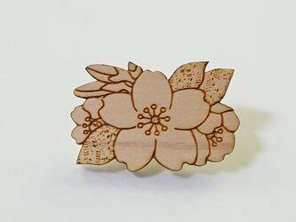 木製帯留め 桜の画像