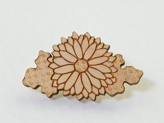 木製帯留め 菊の画像
